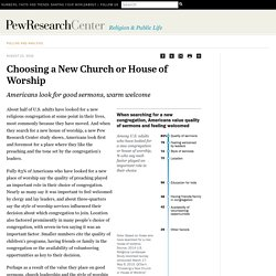 Choosing a New Church or House of Worship