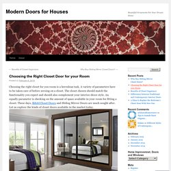 Choosing the Right Closet Door for your Room