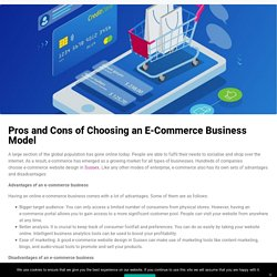 Pros and Cons of Choosing an E-Commerce Business Model - Numediahub