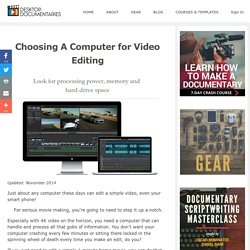 Choosing A Computer for Video Editing