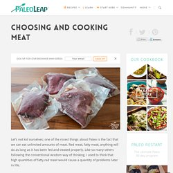 Choosing and cooking meat