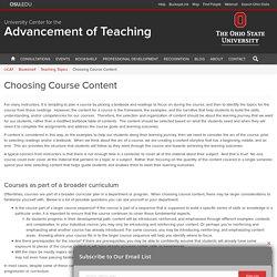 Choosing Course Content - UCAT