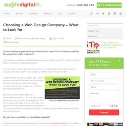 Choosing a Web Design Company – What to Look for
