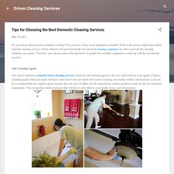 Cleaning Services - Reliable Domestic Cleaning Services