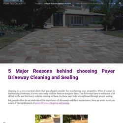 5 Major Reasons behind choosing Paver Driveway Cleaning and Sealing