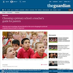 Choosing a primary school: a teacher's guide for parents
