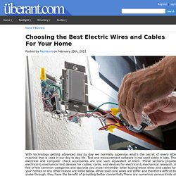 Choosing the Best Electric Wires and Cables For Your Home