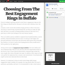 Choosing From The Best Engagement Rings In Buffalo