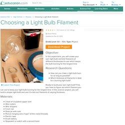 Choosing a Light Bulb Filament