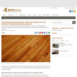 Choosing floor finishes that protect indoor air quality
