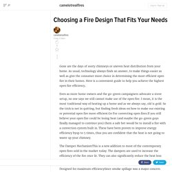 Choosing a Fire Design That Fits Your Needs