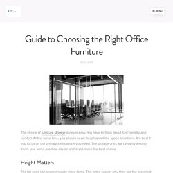 Guide to Choosing the Right Office Furniture