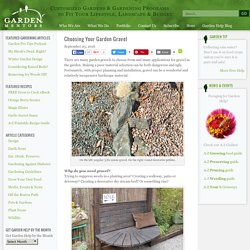 Choosing Your Garden Gravel - Garden Mentors
