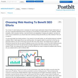 Choosing Web Hosting To Benefit SEO Efforts