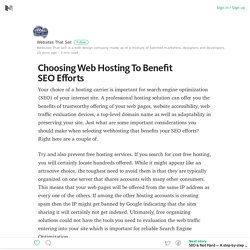Choosing Web Hosting To Benefit SEO Efforts – Medium