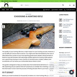 CHOOSING A HUNTING RIFLE – Guns Express Zone