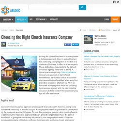 Choosing the Right Church Insurance Company