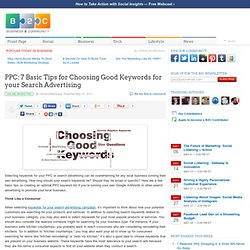 PPC: 7 Basic Tips for Choosing Good Keywords for your Search Advertising