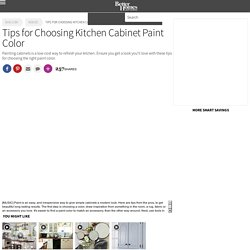 Tips for Choosing Kitchen Cabinet Paint Color