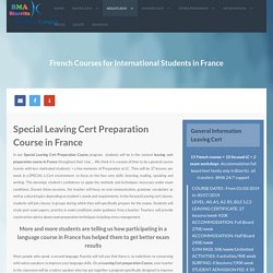 Choosing the Best Leaving Cert course in France