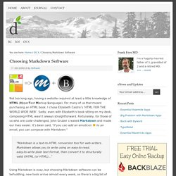 Choosing Markdown Software - live your best dreams