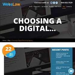 Choosing a Digital Marketing Agency - Lawyer Internet Marketing-Web Design For Lawyers-SEO-PPC