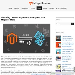 Choosing The Best Payment Gateway For Your Magento Store – Magento Store Blog