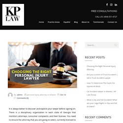 Choosing the Right Personal Injury Attorney - KP LAW GROUP,