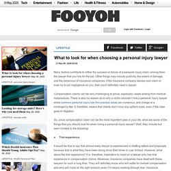 What to look for when choosing a personal injury lawyer