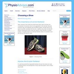 Choosing a Shoe - Correct Footwear - PhysioAdvisor