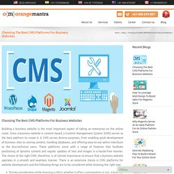 Choosing The Best CMS Platforms For Business Websites