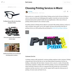 Choosing Printing Services in Miami