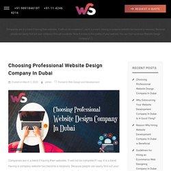 Choosing Professional Website Design Company In Dubai