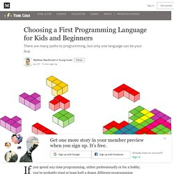 Choosing a First Programming Language for Kids and Beginners - Medium