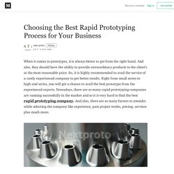 Choosing the Best Rapid Prototyping Process for Your Business