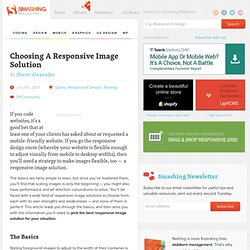 Choosing A Responsive Image Solution