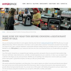 Make Sure You Read This Before Choosing a Restaurant Point of Sale
