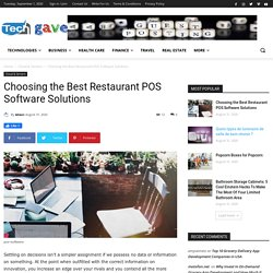 Choosing the Best Restaurant POS Software Solutions
