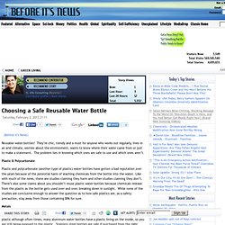 Choosing a Safe Reusable Water Bottle