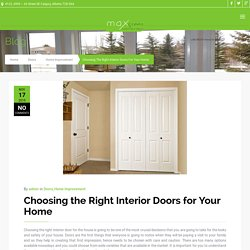 Tips to Choose the Right Interior Doors for Your Home