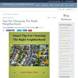 Tips For Choosing A Great Neighborhood