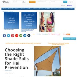 Choosing the Right Shade Sails for Hail Prevention