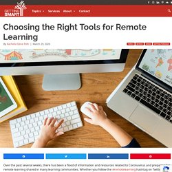 Choosing the Right Tools for Remote Learning