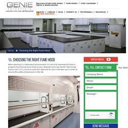 Choosing the Right Fume Hood