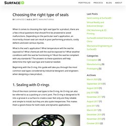 Choosing the right type of seals - SurfaceID