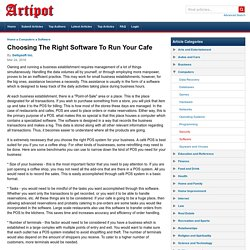 Choosing The Right Software To Run Your Cafe