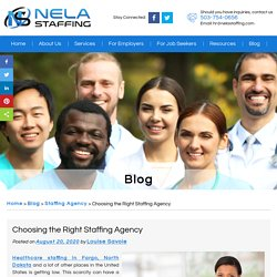 Choosing the Right Staffing Agency
