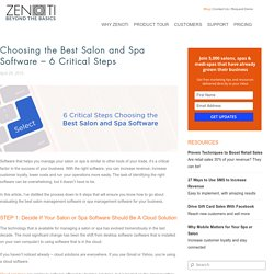 Choosing the Best Salon and Spa Software