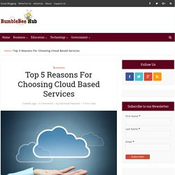 Top 5 Reasons For Choosing Cloud Based Services - BumbleBee Hub