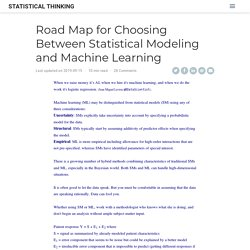 Road Map for Choosing Between Stat Modeling and ML